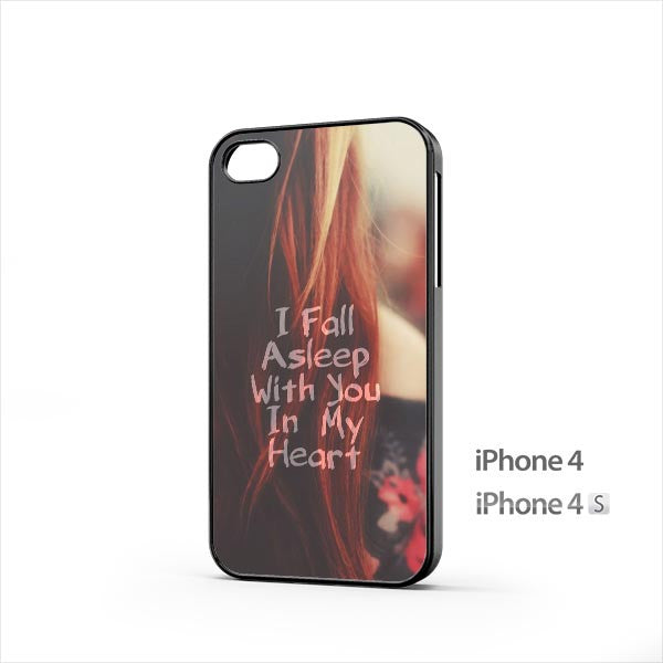 Valentines Fall Asleep With You iPhone 4 / 4s Case