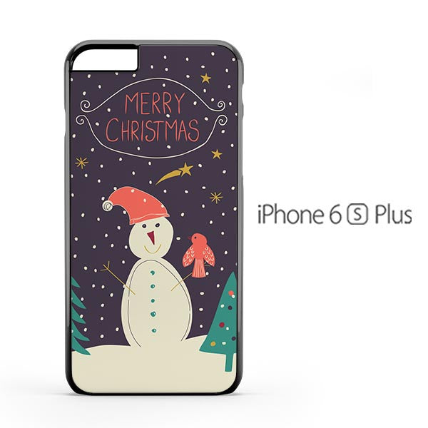 Merry Christmas Snowman iPhone 6s Plus Case