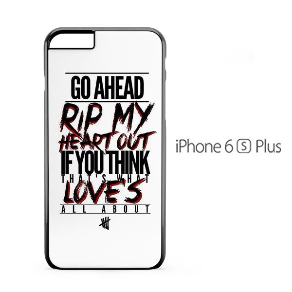 5 Second To Summer Lyric iPhone 6s Plus Case