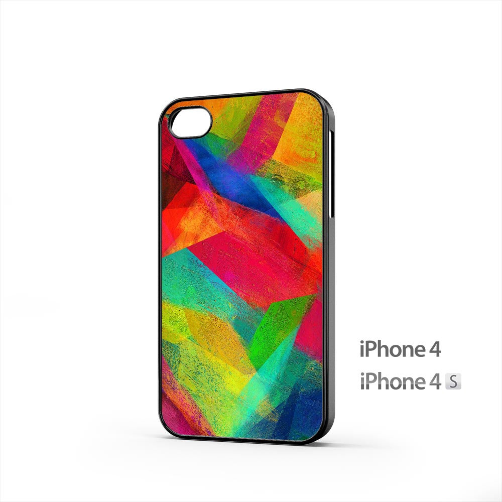 Painting Colorful Shape iPhone 4 / 4s Case