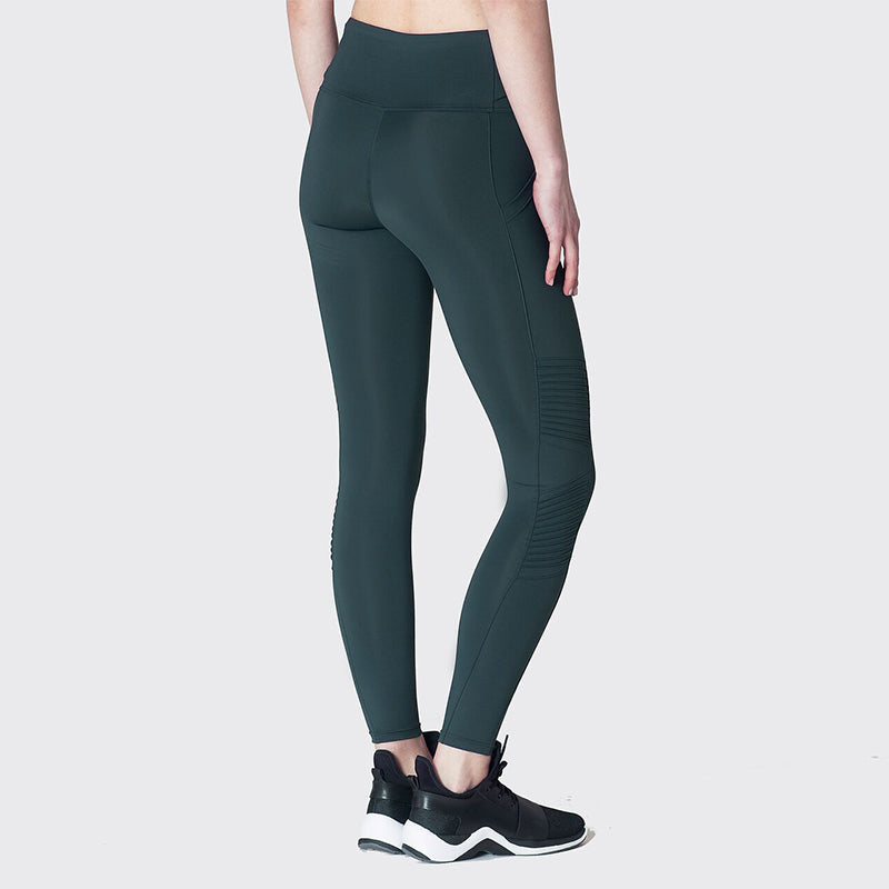 Jetsetter Moto Leggings-Forest