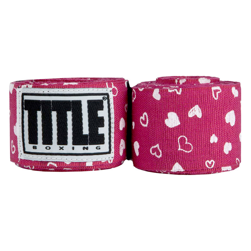 "Title Print Mexican Style 180"""" Handwraps-Red Heart"