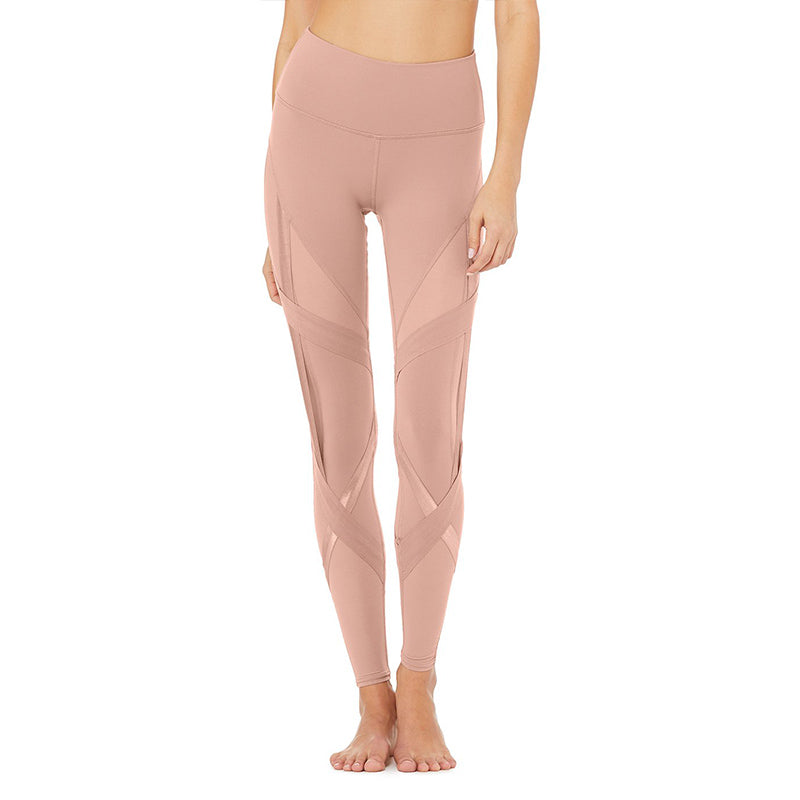 High-Waist Bandage Legging-Smoky Quartz