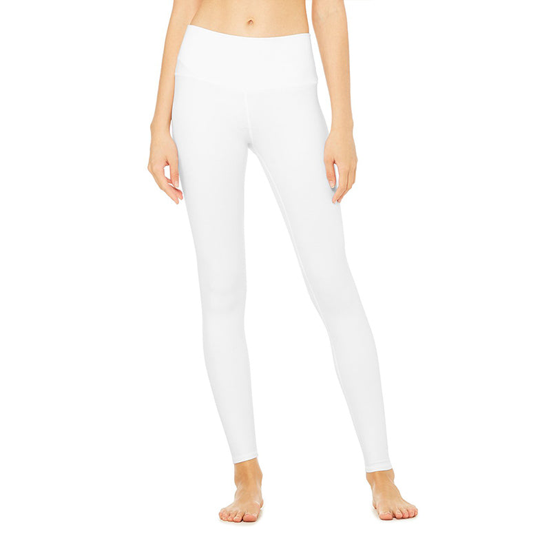 High-Waist Airbrush Legging-White