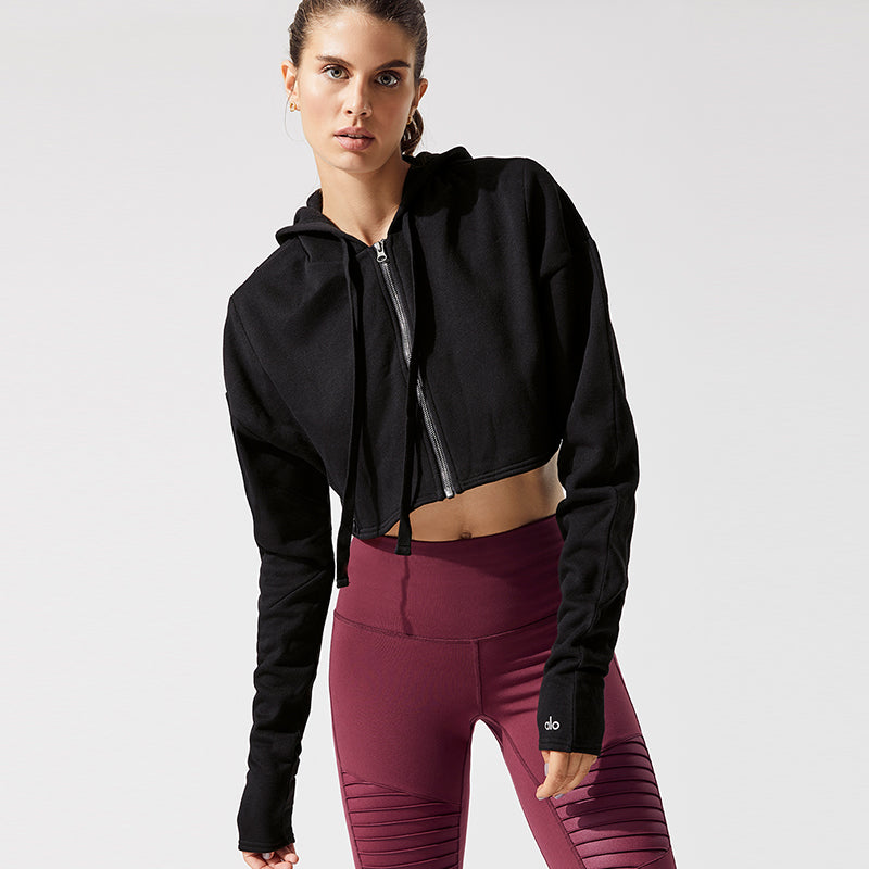 Extreme Crop Jacket-Black
