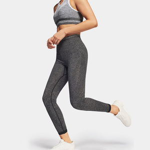 Tone 7/8 Legging-Dark Grey Marl