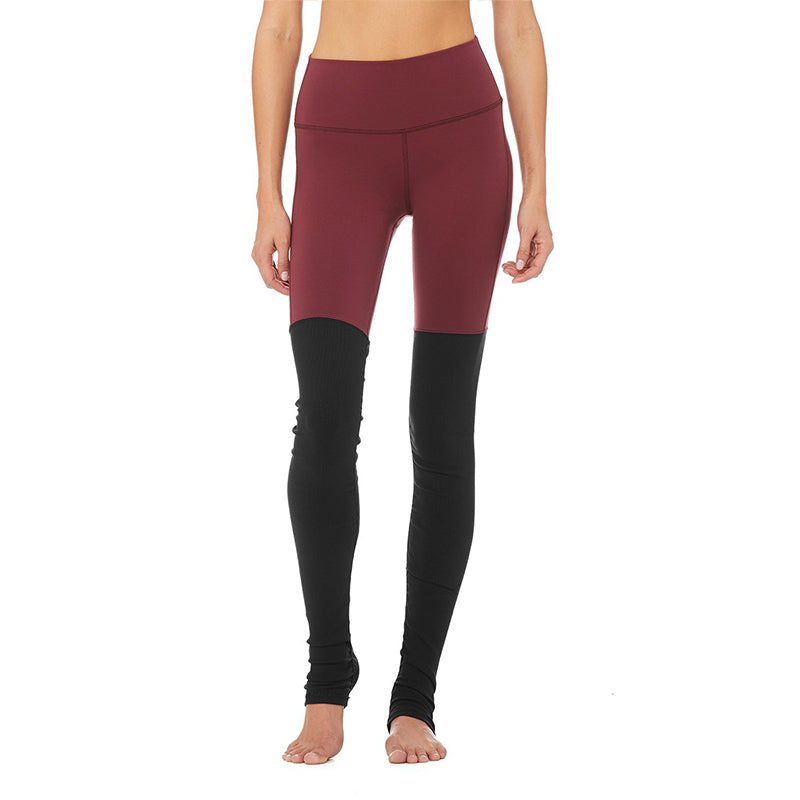 High-Waist Goddess Legging-Black Cherry-Black