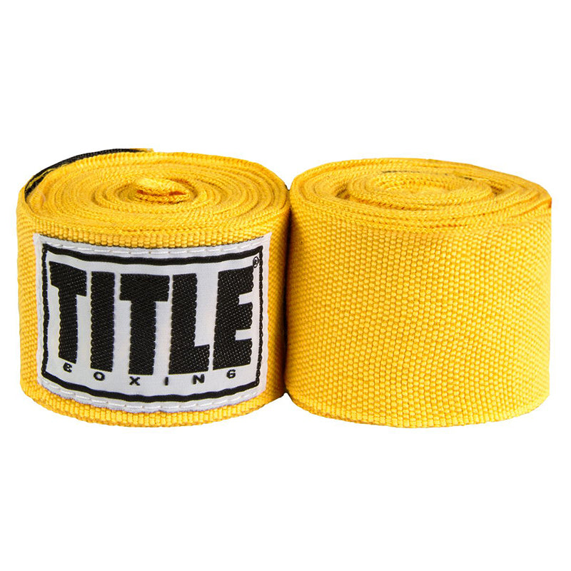 "Title Print Mexican Style 180"" Handwraps-Gold"