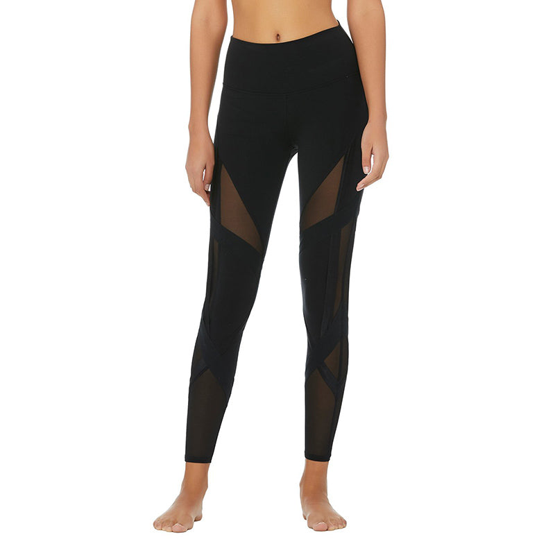 High-Waist Bandage Legging-Black