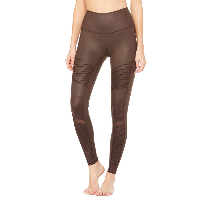 Moto Legging-Brown