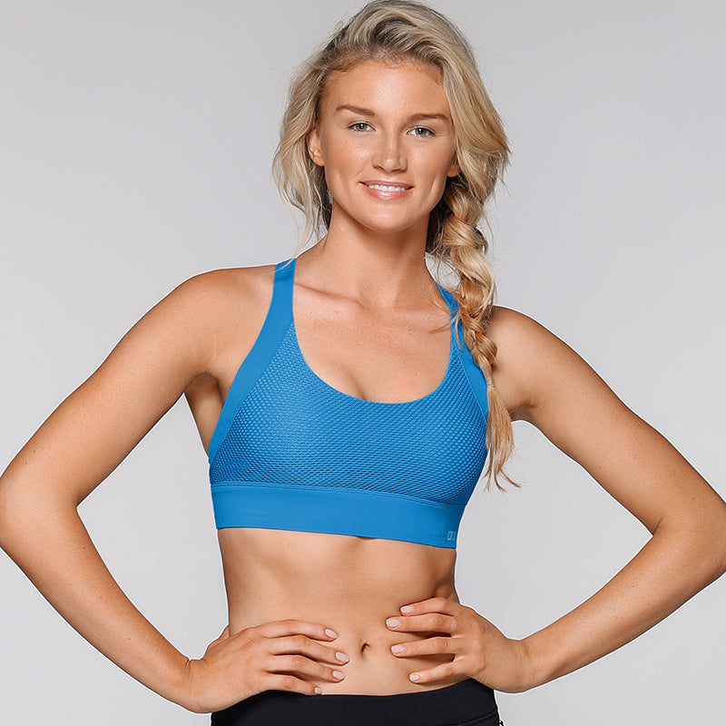 High Intensity Sports Bra-Misty Blue
