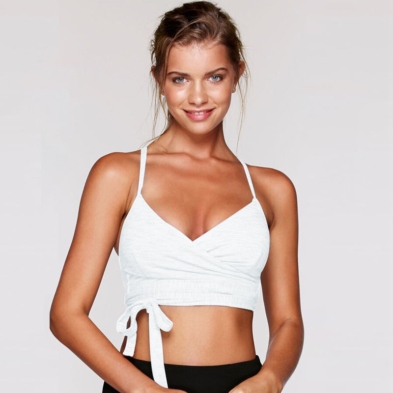 Wrap It Up Sports Bra-White