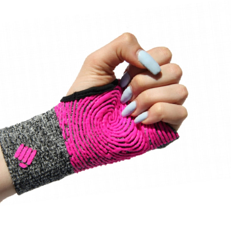 Staple Gloves-Grey-Pink