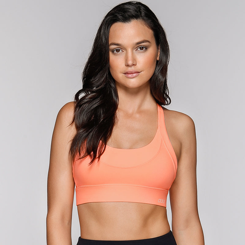 High Intensity Sports Bra-Neon Peach Melba