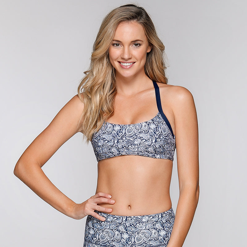 Lotus Swim Active Sports Bra-Lotus Print