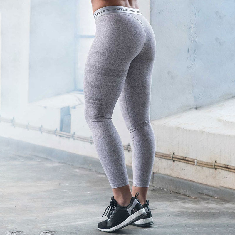 Grey Power Tights-Grey