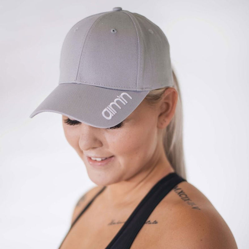 Black Stripe Baseball Cap-Grey