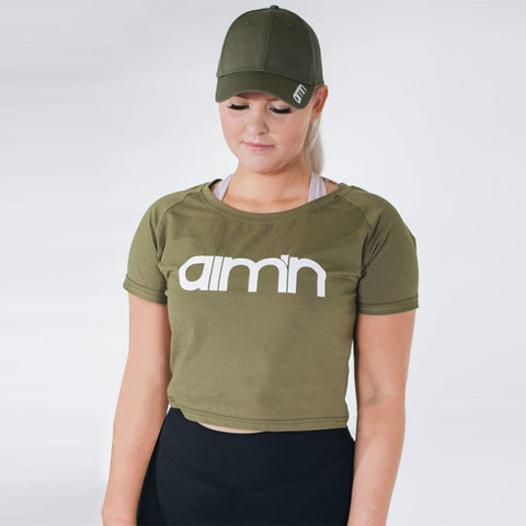 Army Green Short Sleeve Dress
