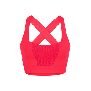 Glamour Sports Bra-Red