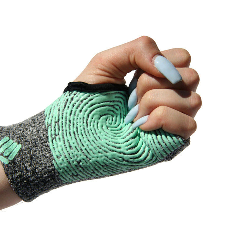 Staple Gloves-Grey-Aqua