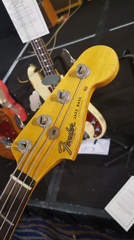 1961 Fender Jazz Bass Heavy Relic - Aged Olympic White Headstock
