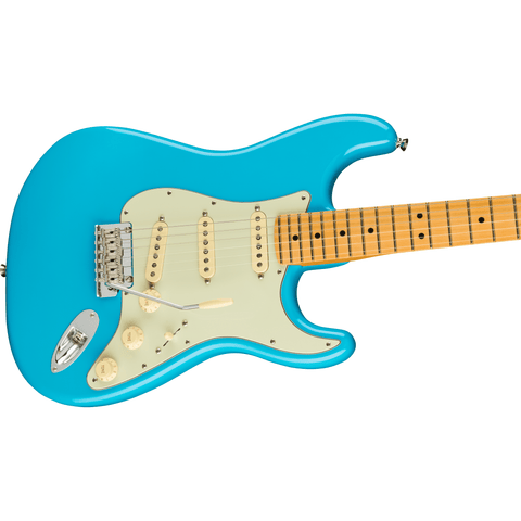 Image of Fender American Professional II Stratocaster, Maple Fingerboard - Miami Blue - Music 440