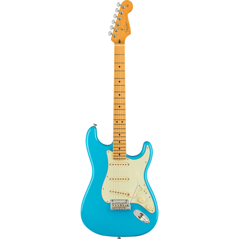 Fender American Professional II Stratocaster, Maple Fingerboard - Miami Blue - Music 440