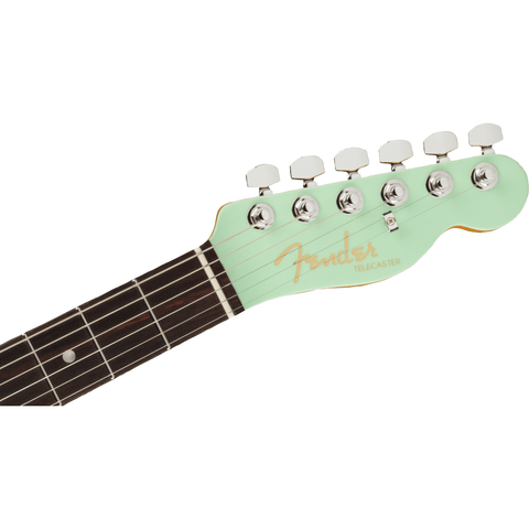 Image of Fender Ultra Luxe Telecaster, Rosewood Fingerboard, Transparent Surf Green - Music 440