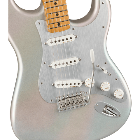 Image of Fender H.E.R. Stratocaster, Maple Fingerboard - Chrome Glow - Music 440