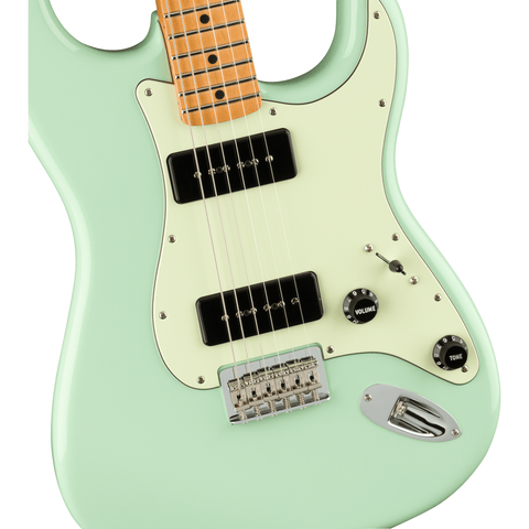 Fender Noventa Stratocaster, Maple Fingerboard - Surf Green - Music 440