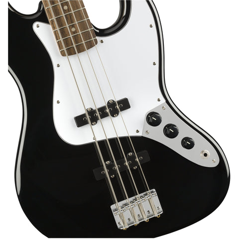 Image of Squier Affinity Series Jazz Bass, Indian Laurel Fingerboard - Black - Music 440
