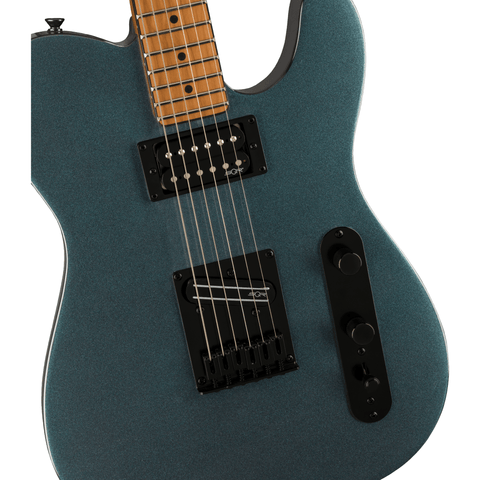 Image of Squier Contemporary Telecaster RH, Roasted Maple Fingerboard - Gunmetal Metallic - Music 440
