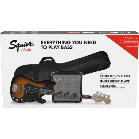 Squier Affinity Series Precision Bass PJ Pack - Brown Sunburst - Music 440