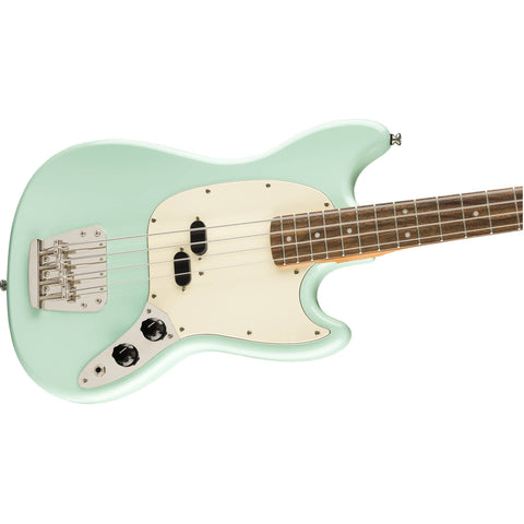 Squier Classic Vibe '60s Mustang Bass, Laurel Fingerboard - Surf Green - Music 440