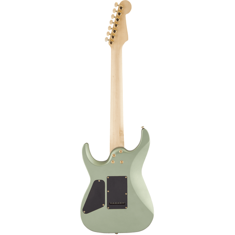 Image of Charvel Angel Vivaldi Signature DK24-7 Nova, Maple Fingerboard - Satin Sage Green - Music 440