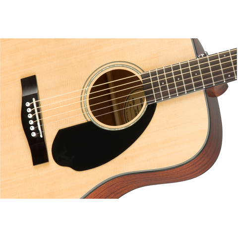 Fender CD-60S Dreadnought Acoustic, Walnut Fingerboard - Natural - Music 440