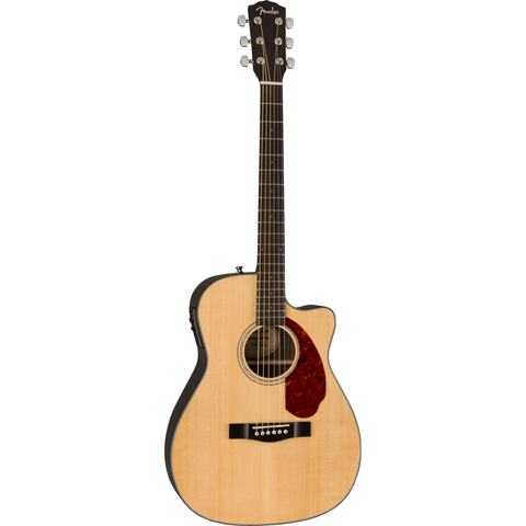 Image of Fender CC-140SCE Concert Acoustic-Electric w/Case, Walnut Fingerboard - Natural - Music 440