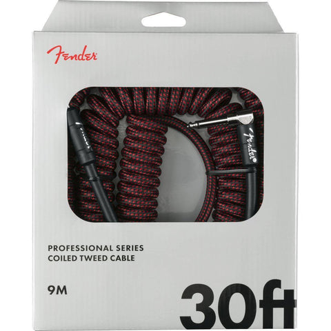 Image of Fender Professional Coil Cable, 30' - Various Colours - Music 440