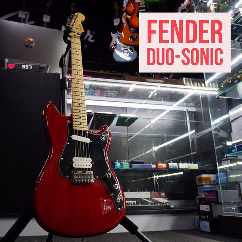 Image of Fender Player Duo-Sonic HS, Maple Fingerboard - Crimson Red Transparent