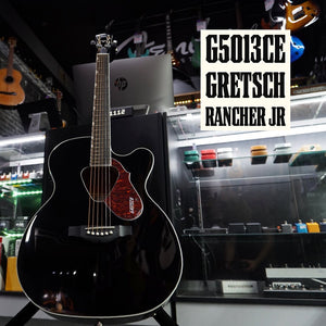 G5013CE Rancher Jr. Cutaway Acoustic Electric, Fishman Pickup System, Black - Music 440