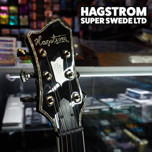 Hagstrom Super Swede LTD, Swedish Made Guitar w/Hardcase - Cosmic Black Burst - Music 440