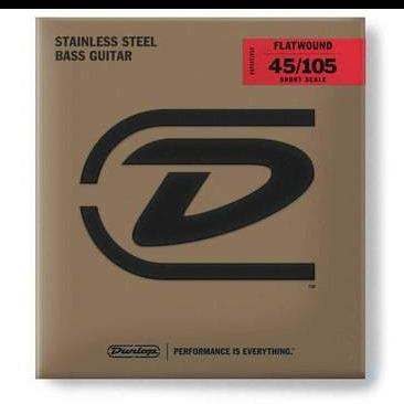 Image of Dunlop Stainless Steel Flatwound Bass Strings - Various Gauges - Music 440