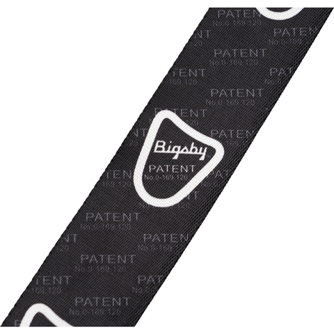 "Image of Bigsby Patent Pending Guitar Strap, 2"" - Black - Music 440"
