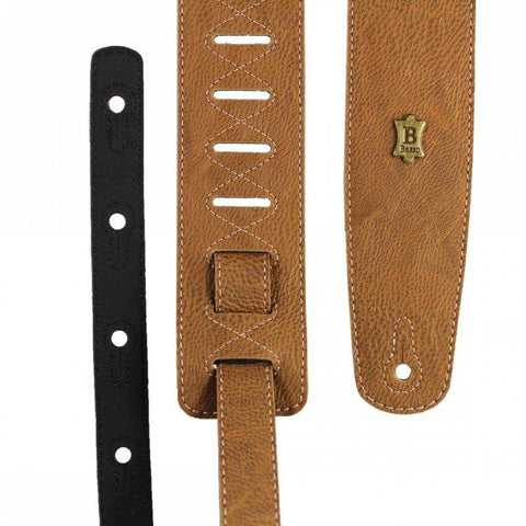 Image of Basso Vegan Leather Guitar Strap ECO-3 - Whiskey - Music 440