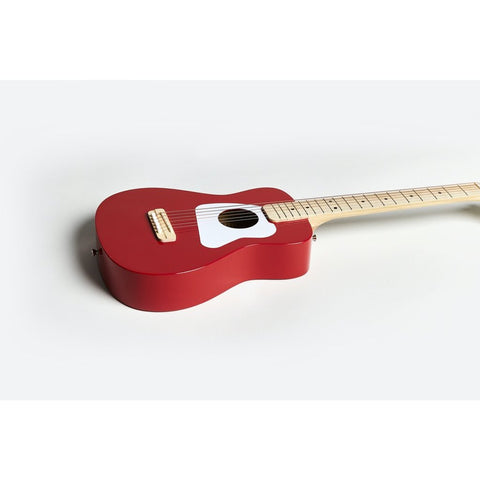 Image of Loog Pro VI Acoustic Guitar w/ Chord Diagram Flash Cards - Red - Music 440