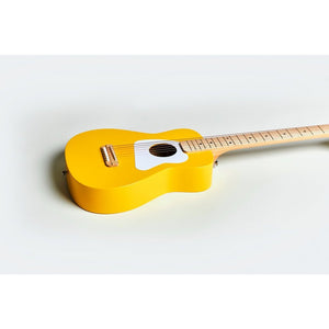 Loog Pro VI Acoustic Guitar w/ Chord Diagram Flash Cards - Yellow - Music 440