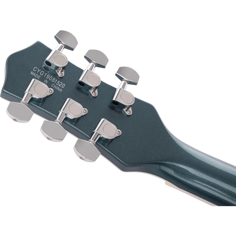 Image of Gretsch G5222 Electromatic Double Jet BT w/V-Stoptail, Laurel Fingerboard - Jade Grey Metallic - Music 440