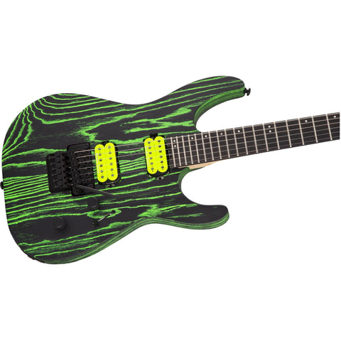 Image of Jackson Pro Series Dinky DK2 ASH, Ebony Fingerboard - Green Glow - Music 440