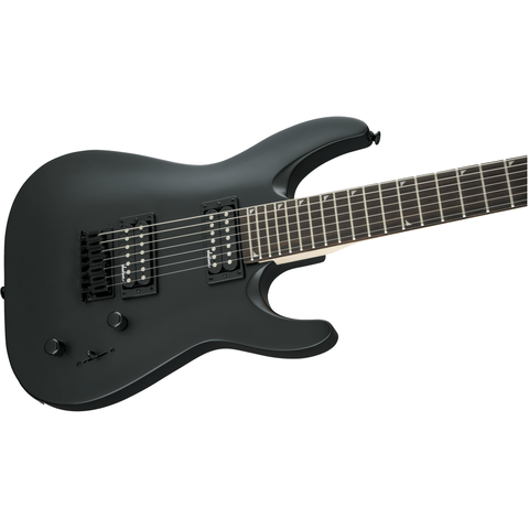 Image of Jackson JS Series Dinky Arch Top JS22-7 DKA HT, Amaranth Fingerboard - Satin Black - Music 440