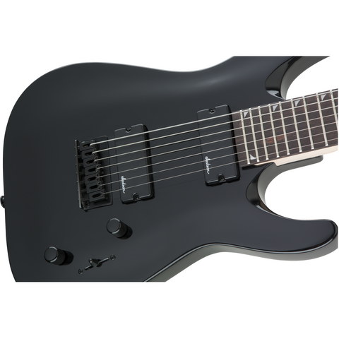 Image of Jackson JS Series Dinky Arch Top JS22-7 DKA HT, Amaranth Fingerboard - Gloss Black - Music 440